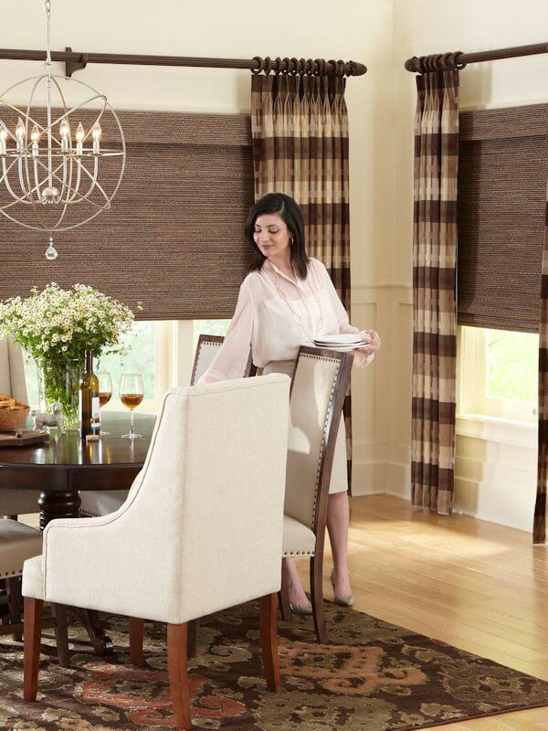 Woman Standing in Room with Soft Treatments